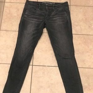 American Eagle Faded Black Jeggings low rise 8R